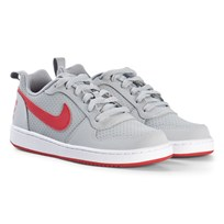 NIKE Gray and Red Court Borough Low Sneakers 003