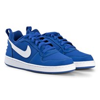NIKE Blue and White Nike Court Borough Low Shoe 401