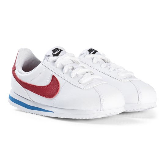NIKE White Cortez Basic Kids Sneakers 103