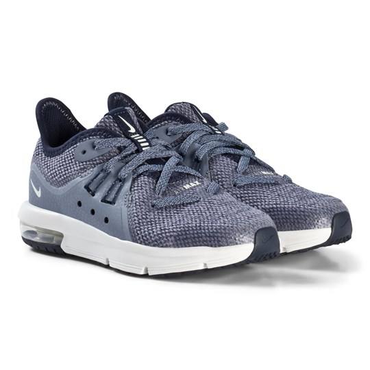 NIKE Gray Air Sequent 3 Kids Sneakers 400
