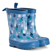 Viking Blue Raindrop Wellies Blue