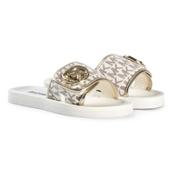 Michael Kors Gold Zia Road Sliders