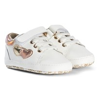 Michael Kors White Zia Baby Kid Trainers White