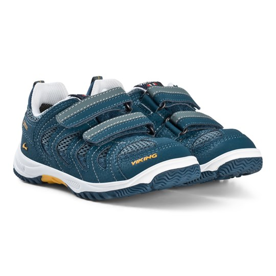 Viking Petrol Blue and Sun Yellow CASCADE GTX Sneakers Petrol/Sun