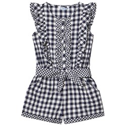 Mayoral Navy Gingham Frill Playsuit