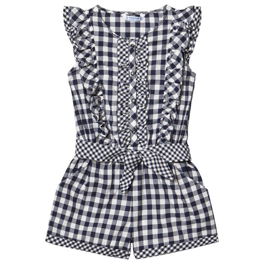 Mayoral Navy Gingham Frill Playsuit 75
