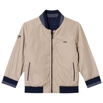 Mayoral Navy and Reversible Beige Bomber Jacket 36