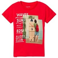 Mayoral Red Surf Graphic Print Tee 51
