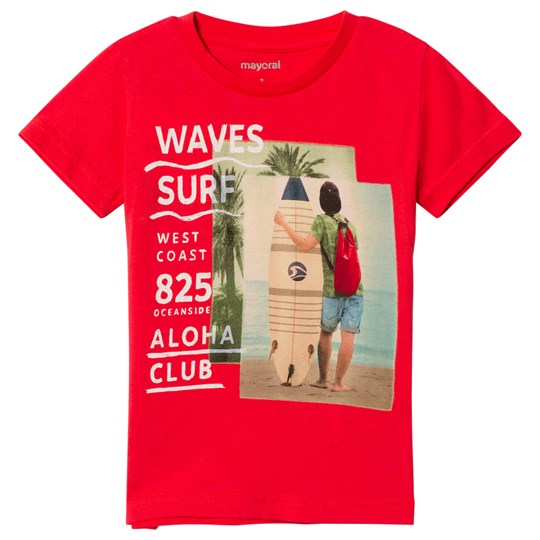 Mayoral Surf Graphic Print T-Shirt Red 51