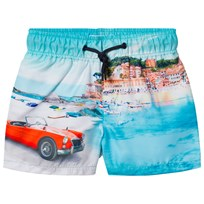 Mayoral Blue Harbour Scene Print Swim Shorts 15