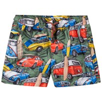 Mayoral Khaki Car Print Swim Shorts 16