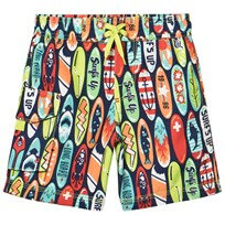 Hatley Navy Surfs Up Print Swimshorts Navy