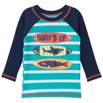 Hatley Navy Surfs Up Print Rash Top Navy