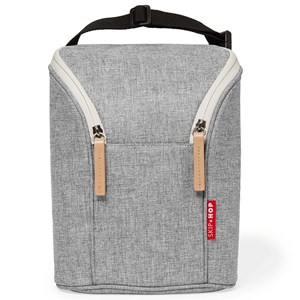 Image of Skip Hop Grab & Go Double Bottle Bag Grey Melange (2988274879)