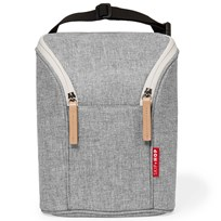 Skip Hop Grab & Go Double Bottle Bag Grey Melange Grey Melange