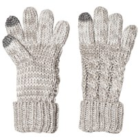GAP Cable Knit Gloves Light Heather Gray Light Heather Grey B10