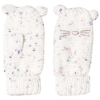 GAP Embroidered Cat Face Mittens Pastel Multi PASTEL MULTI