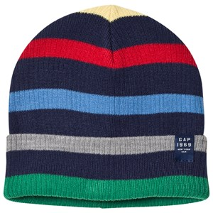 Image of GAP Striped Beanie Hat Heather Gray XS/S (48 cm) (2988278103)