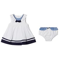 Mayoral White and Navy Sailor Dress with Knickers 10