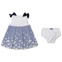Mayoral Navy Striped and Daisy Print Dress with Knickers 93