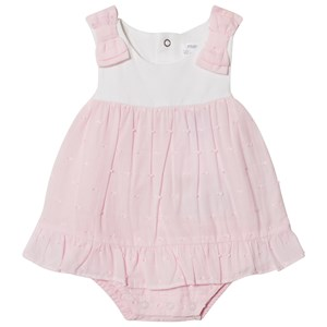 Image of Mayoral Pink Dress Body with Bow and Embroidery Detailing 12 months (2988277423)