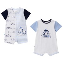 Mayoral Blue, White and Navy Pack of 2 Dog Rompers 73
