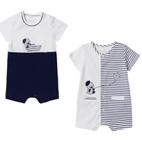 Mayoral Navy and White Pack of 2 Duck Rompers 45
