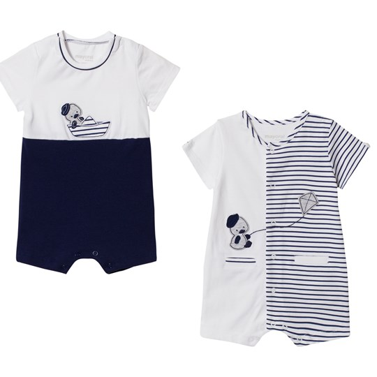 Mayoral Pack of 2 Navy and White Duck Baby Bodies 45