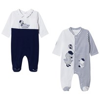 Mayoral Navy and White Pack of 2 Duck Babygrows 45