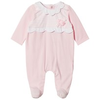 Mayoral Pink Stripe and Flower Applique Babyrow 46