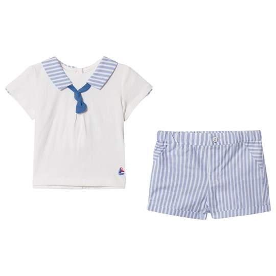 Mayoral Blue Striped Sailor Collar and Shorts Set 54