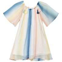 Chloé Rainbow Striped Silk Couture Twill Dress V74