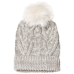 GAP Cable Knit Hat Light Heather Gray