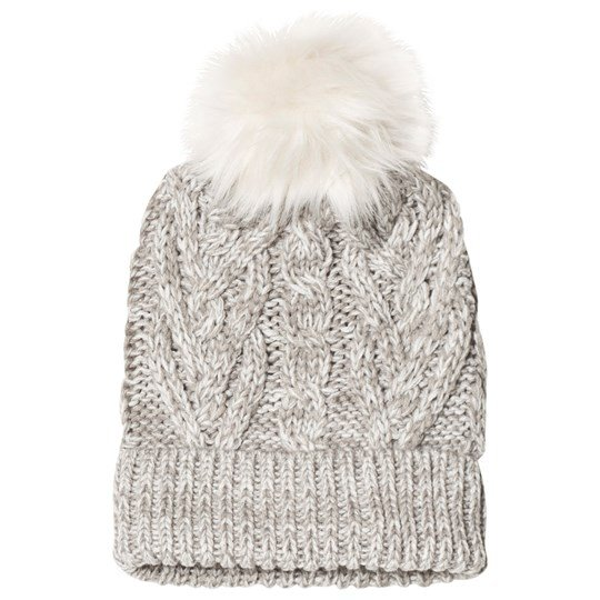 Gap Pom-Pom Cable Knit Mössa Light Heather Gray Light Heather Grey B10