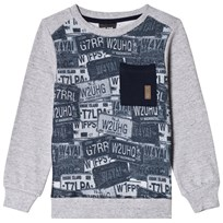 Me Too Sweatshirt, Oskar 435, Car Sign Print, Grey Melange Black