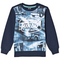Me Too Sweatshirt, Oskar 436, Truck Foto Print, Dress Blues Navy