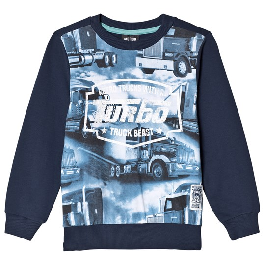 Me Too Truck Sweatshirt Dress Blues Navy