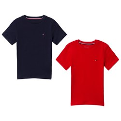 Tommy Hilfiger Pack of 2 Red and Navy T-Shirts