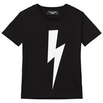Neil Barrett Black with White Lightning Bolt Print Tee 110/09