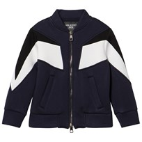 Neil Barrett Navy Colourblock Neoprene Bomber 160