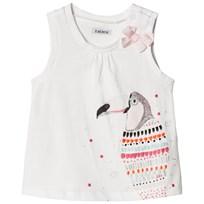 IKKS White Multi Colour Toucan Print Tee 19