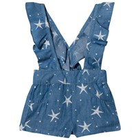 Billieblush Blue Star Print Chambray Dungarees Z10
