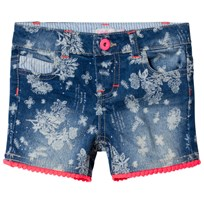 Billieblush Dark Wash Floral Print Shorts Z13