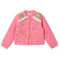 Billieblush Fuchsia Sequin Shoulder Cotton Jacket 49H