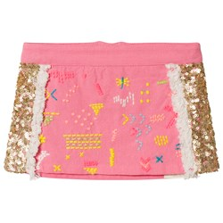 Billieblush Fuchsia Pink and Gold Sequin Skirt