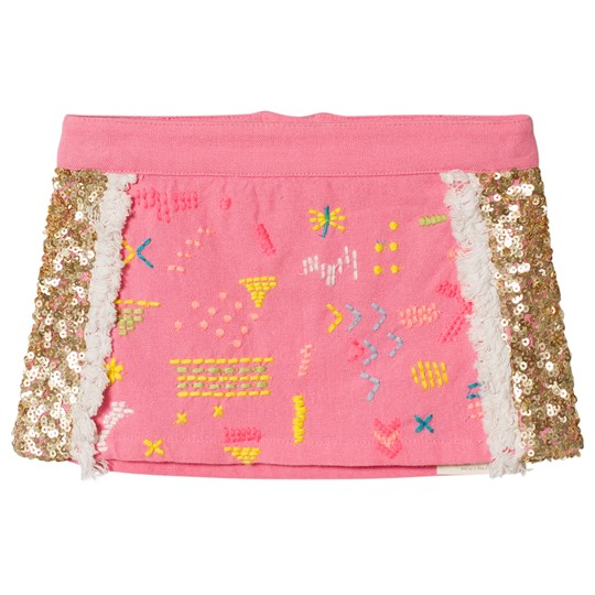 Billieblush Fuchsia Pink and Gold Sequin Skirt 49H