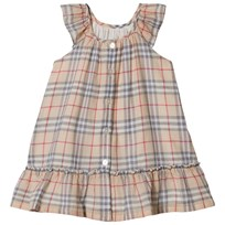 Burberry Pale Stone Tania Classic Check Dress Pale Stone