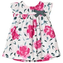 Petit Bateau White and Pink Floral Print Dress