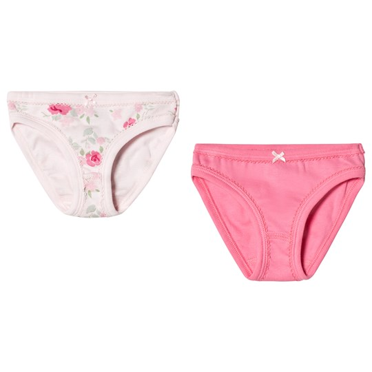 Petit Bateau Pack of 2 Pink and Floral Print Briefs