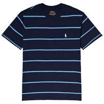 Ralph Lauren Navy and Blue Stripe Short Sleeve T-Shirt Newport Navy Multi